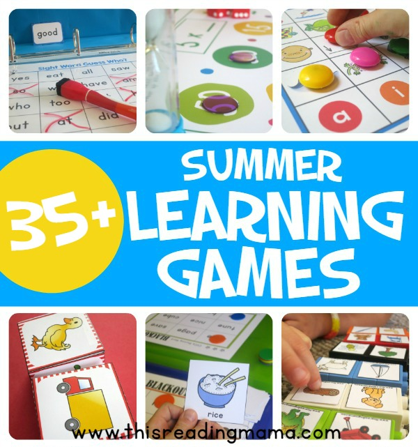 More Than 35 Summer Learning Games - This Reading Mama