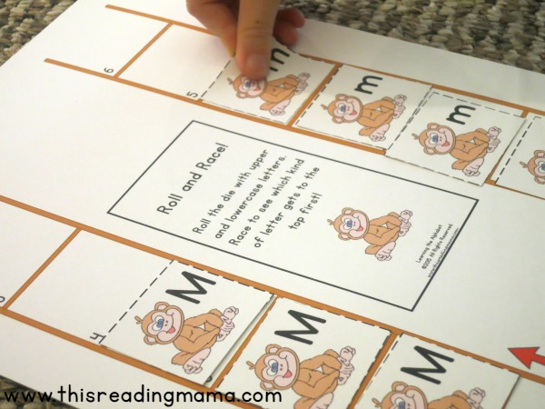 Roll and Race with Letter M from Learning the Alphabet