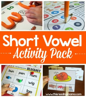 Short Vowel Activity Pack from This Reading Mama