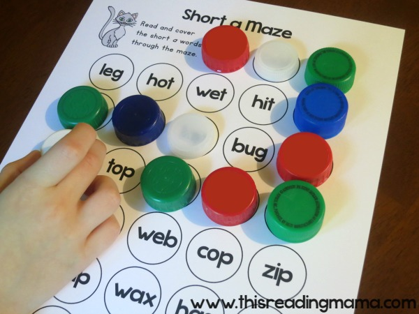 Short Vowel Mazes from Short Vowel Activity Pack