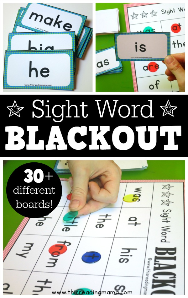 Sight Word Blackout Game {FREE} - This Reading Mama