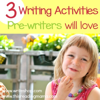 3 Writing Activities for Pre-Writers that They Will LOVE