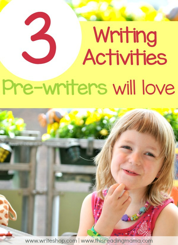 3 Writing Activities Pre-Writers will Love | WriteShop for This Reading Mama