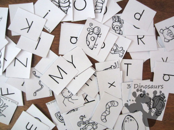 Letter and Picture Cards to Teach kids to Read