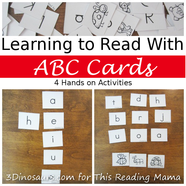Learning to Read with ABC Cards - 4 Hands-on Activities