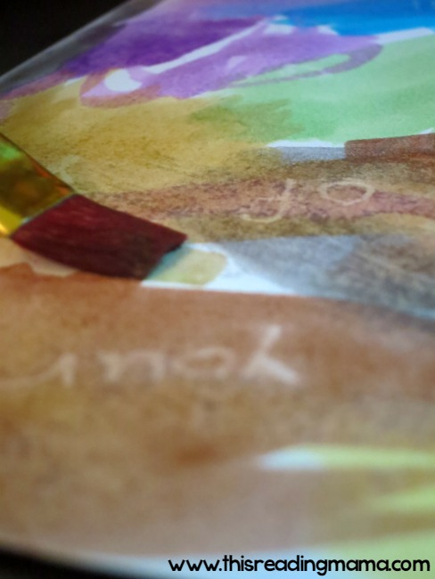 painting over the hidden sight words