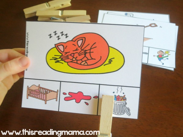 short vowel clip cards - 2 sets