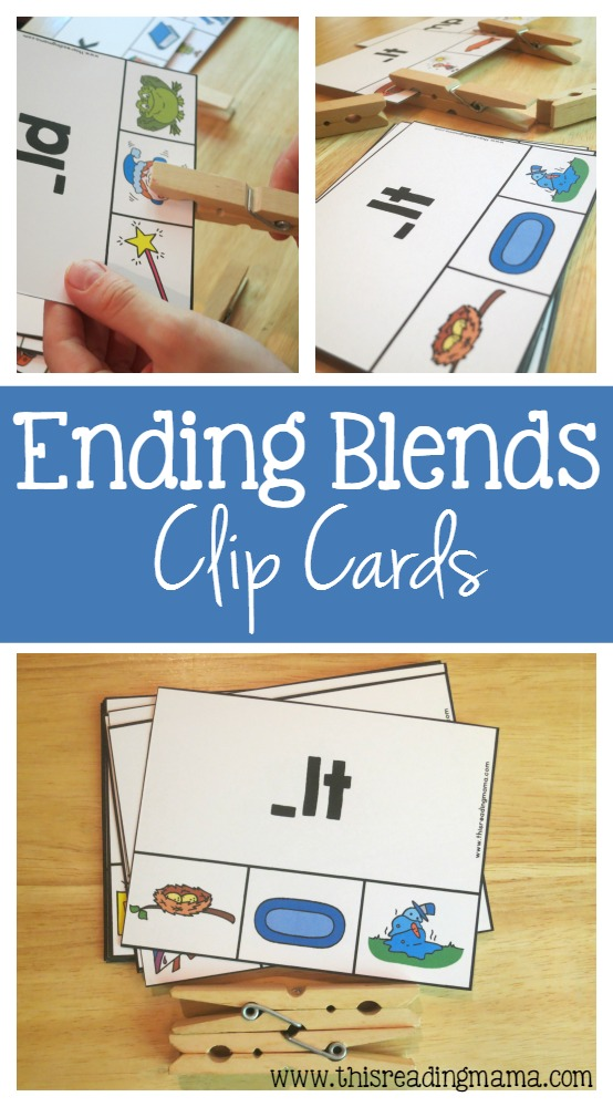 Ending Blends Clip Cards {FREE} - This Reading Mama
