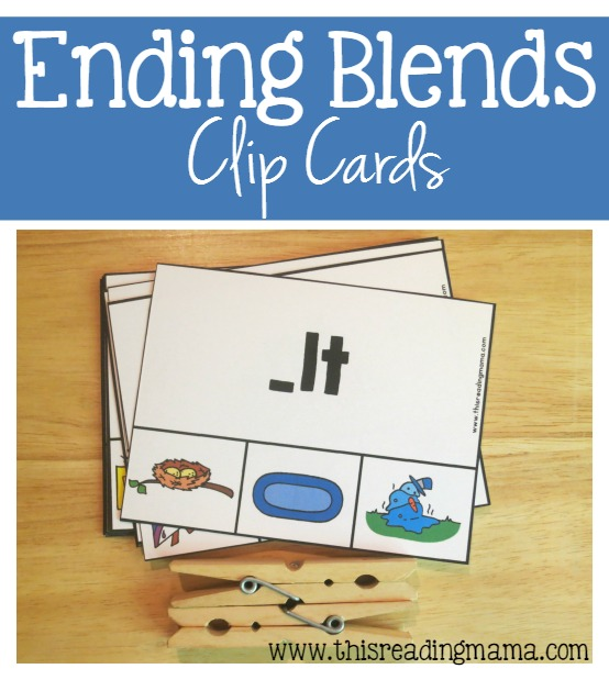 Ending Blends Clip Cards {FREE Printable}