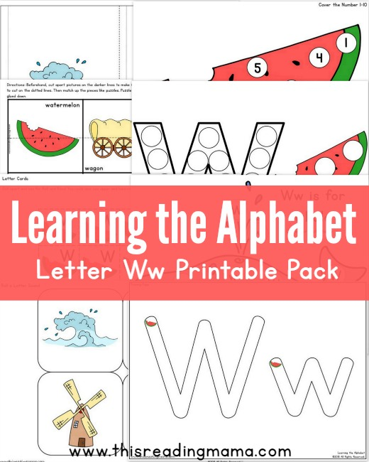 Learning the Alphabet- FREE Letter W Printable Pack