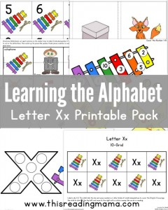 Learning the Alphabet – Letter X Printable Pack