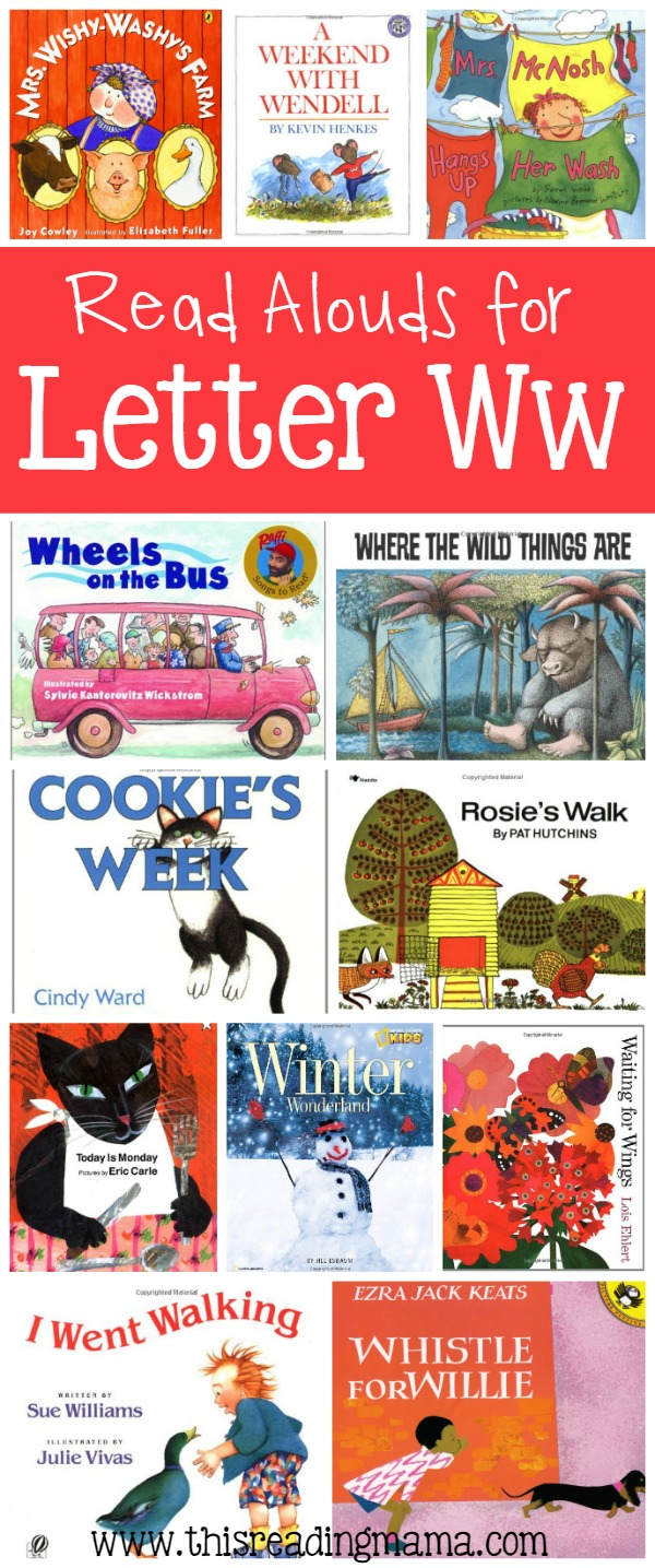 Letter W Book List - Read Alouds for Letter W - This Reading Mama