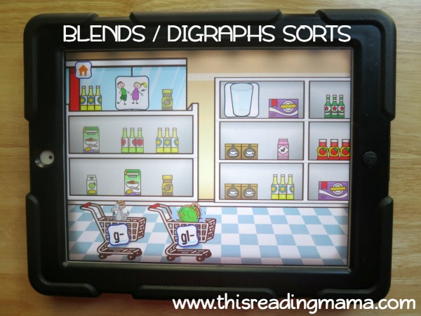 Level 4 blends and digraphs sorting from Alphabet Sounds Learning App