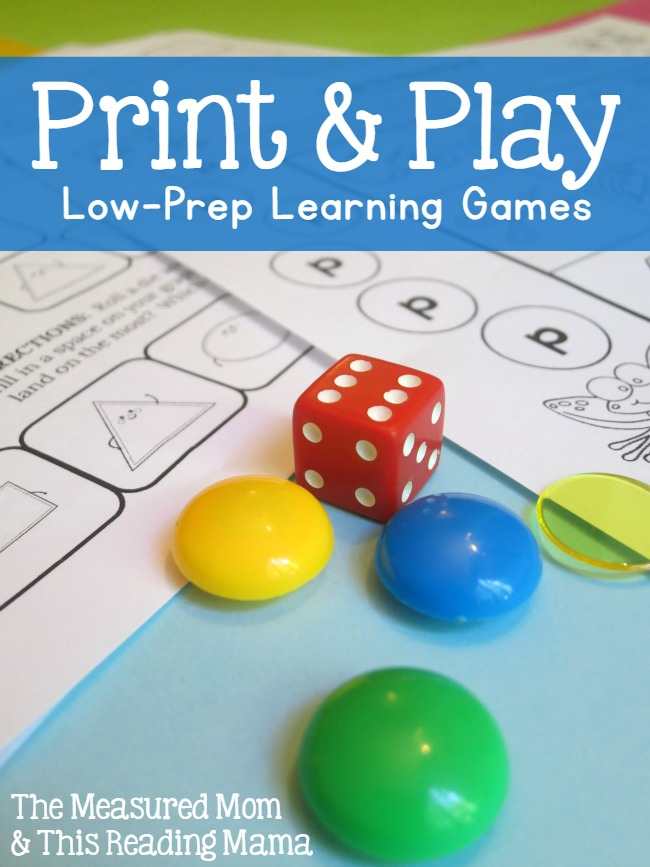 Print & Play Low Prep Learning Games