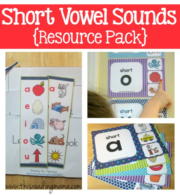 Short Vowel Sounds Resource Pack - This Reading Mama