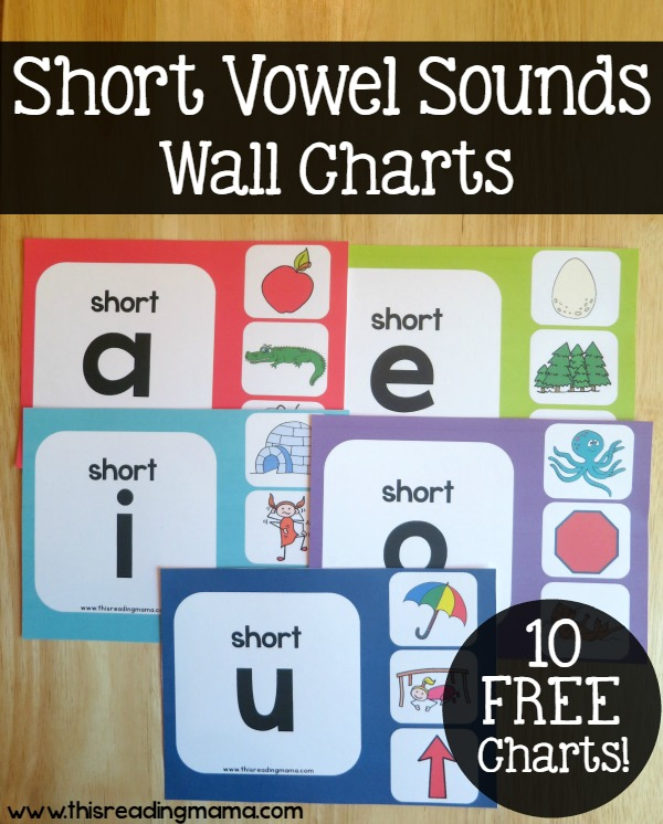 Short Vowel Sounds Wall Charts - FREE - This Reading Mama