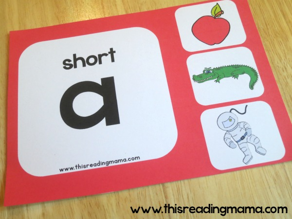 Short a vowel sound wall chart example