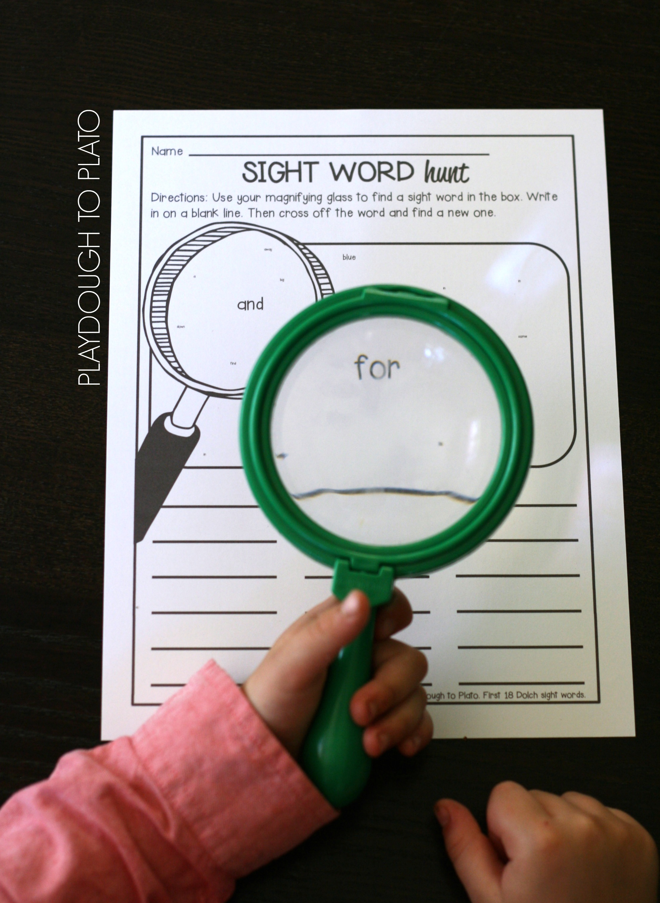 Sight Word Hunts {FREE Printable Pack} | Playdough to Plato for This Reading Mama