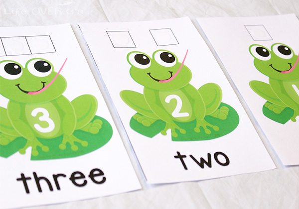 counting to five with frogs and flies
