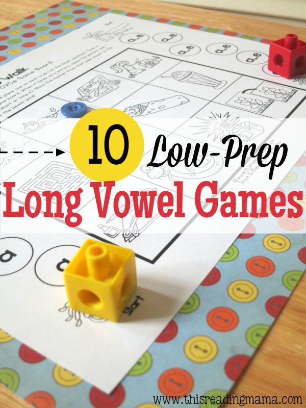 10 FREE Low-Prep Long Vowel Games - CVCe Pattern - This Reading Mama