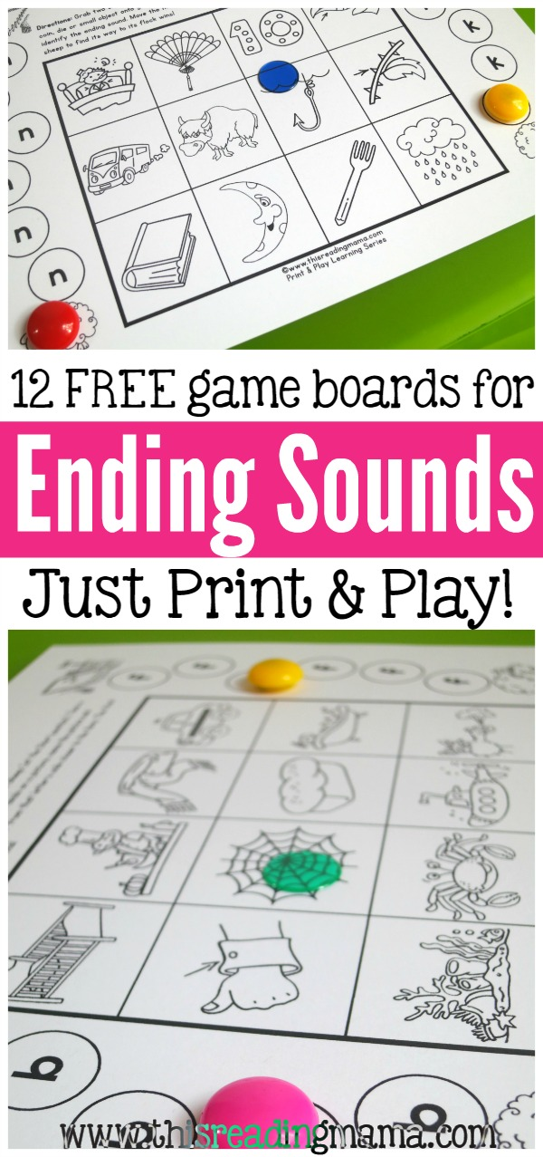 12 FREE Ending Sounds Games - Just Print and Play - This Reading Mama.jpg