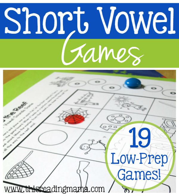 19 FREE Short Vowel Games - Just Print and Play - This Reading Mama