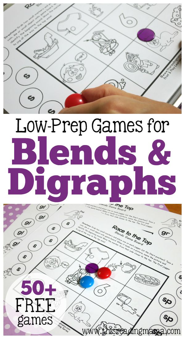50+ Low-Prep Games for Blends and Digraphs | This Reading Mama