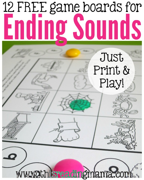 image about Letter Sound Games Printable called Finishing Seems Online games - Precisely Print Engage in!
