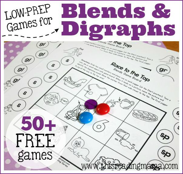 FREE Games for Blends and Digraphs This Reading Mama