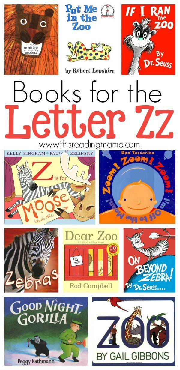 Letter Z Book List