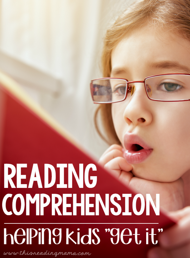 Reading Comprehension Resources - help kids get it with comprehension - This Reading Mama