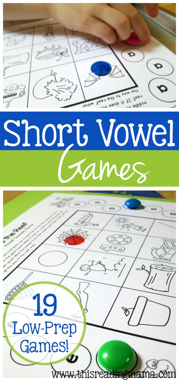 Short Vowel Games - 19 FREE Low-Prep Games | This Reading Mama