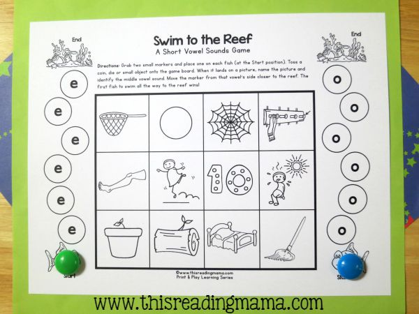 Short Vowel Games - Level 2 - comparing two vowel sounds