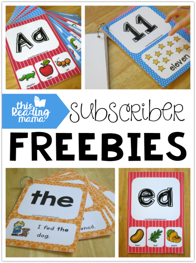This Reading Mama Subscriber Freebies - TONS of freebies for Subscribers Only!