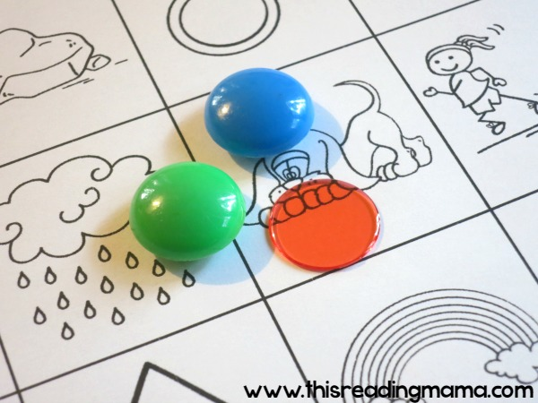materials for beginning sounds games - low-prep - just print and play