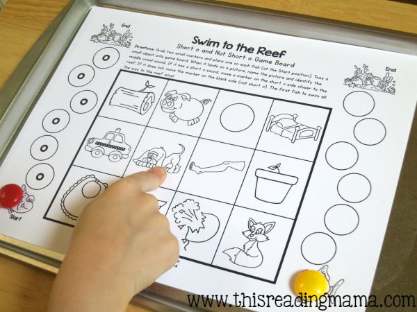 short vowel game - level 1 with short o