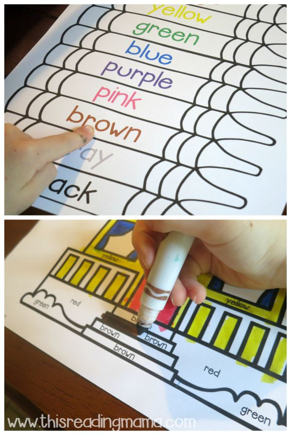 using a color word chart to find color words