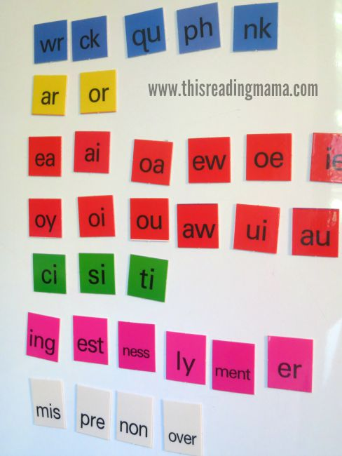 All About Spelling colored letter tiles - LOVE!