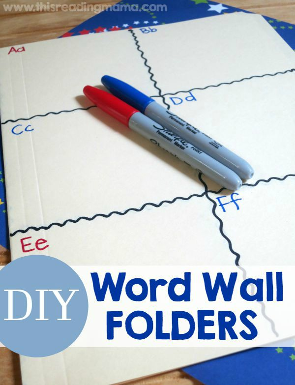 DIY Word Wall Folder ~ easy to make and portable! - This Reading Mama