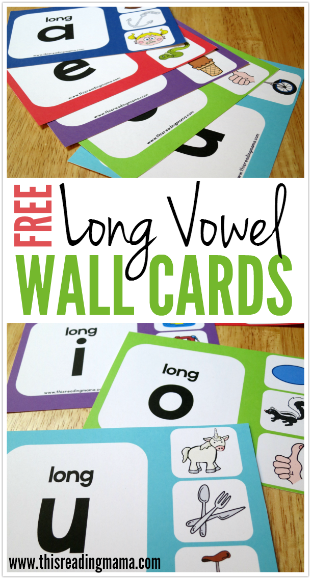 FREE Long Vowel Wall Charts for Initial Sounds - This Reading Mama