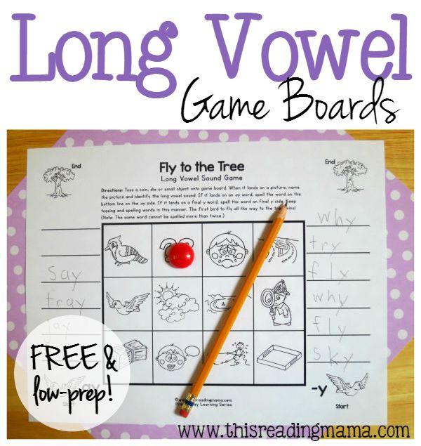 Low-Prep Long Vowel Game Boards - Just Print and Play - This Reading Mama
