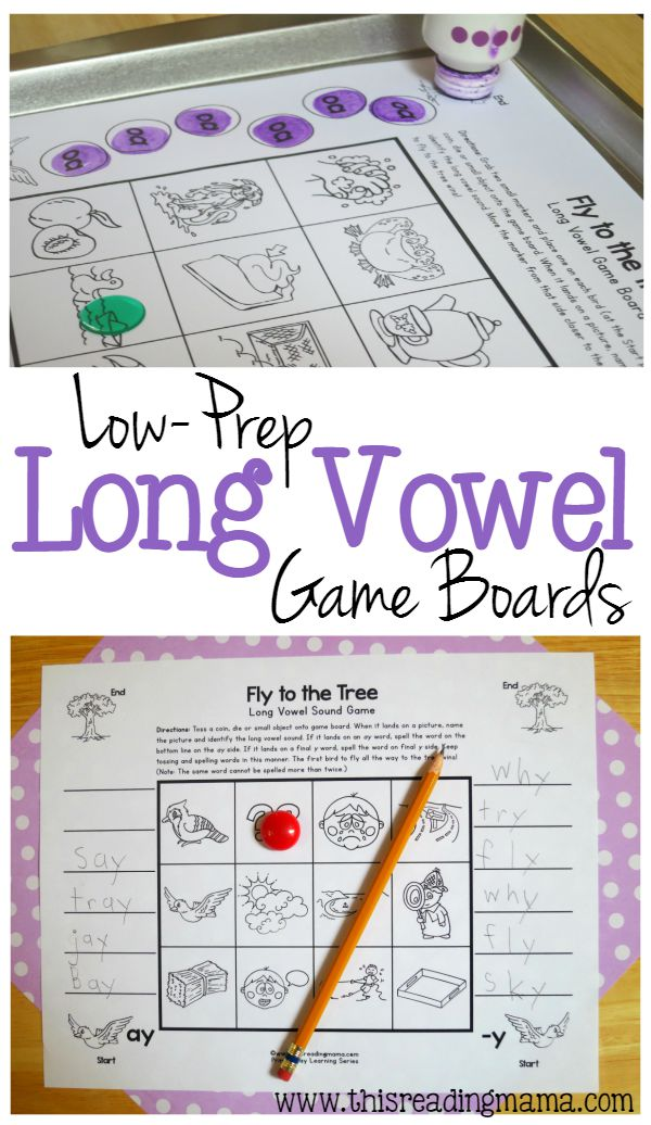 More Long Vowel Game Boards - Just Print and Play - This Reading Mama