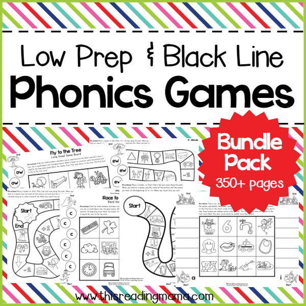 Low Prep Phonics Games Bundle Pack from This Reading Mama