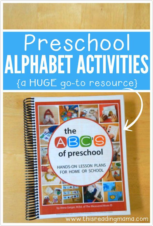 Preschool Alphabet Activities - HUGE go-to Resource for Parents and Teachers