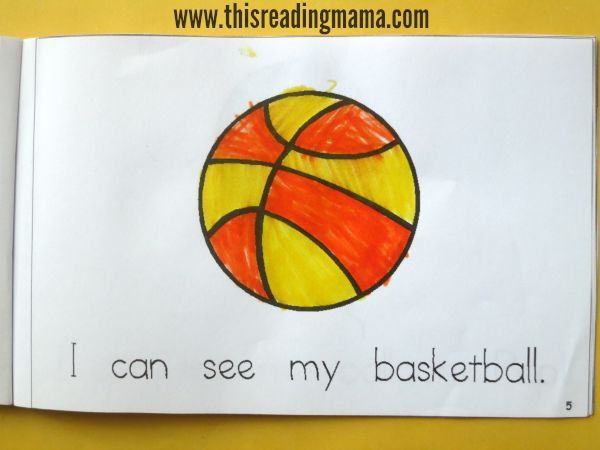 context clues from pictures for emergent readers - letter B book from Reading the Alphabet