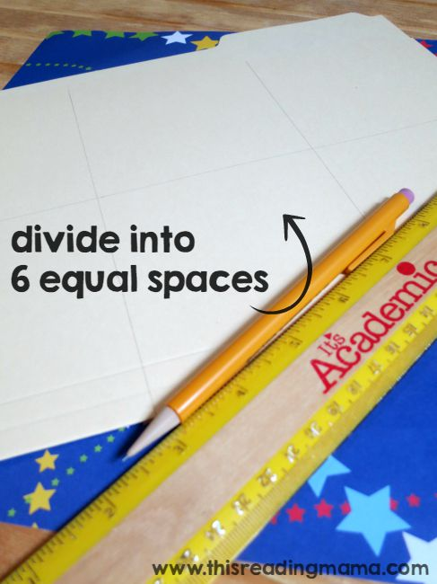 dividing up the space on diy word wall folder
