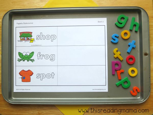 level 1 of building short vowel words