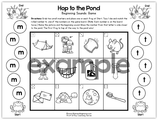 Same Beginning Sound Kidz Activities. Print And Play Alphabet Sounds Games This Reading Mama. Worksheet. Worksheetfun Ending Sounds At Clickcart.co