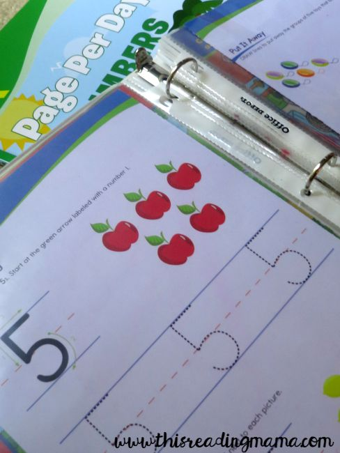 re-use workbooks and pages by slipping in plastic sleeve protector