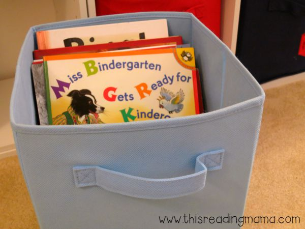 read aloud book bin - they can re-read books I have read aloud